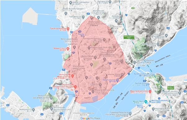 下関市に初上陸!Uber Eats(ウーバーイーツ)山口エリアの配達地域と注文範囲【エリア拡大中!】