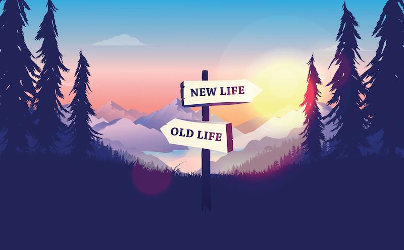 古い人生と新しい人生の岐路|新たなスタート・新生活